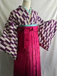 矢がすり着物卒業式女子袴レンタル衣装ヘアメイク着付け杠(ゆずりは)