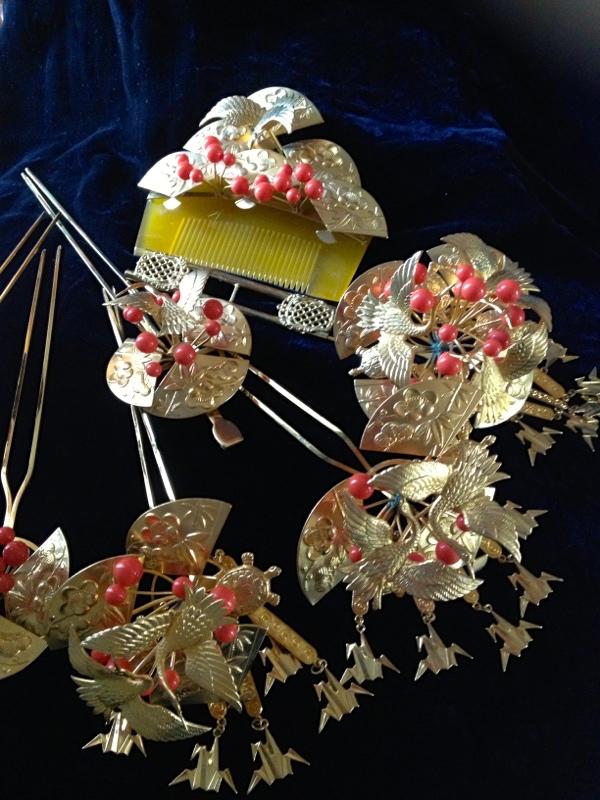 結婚式引き振袖スタイル 和婚佐賀福岡ヘアメイク着付け杠(ゆずりは)花嫁かんざし