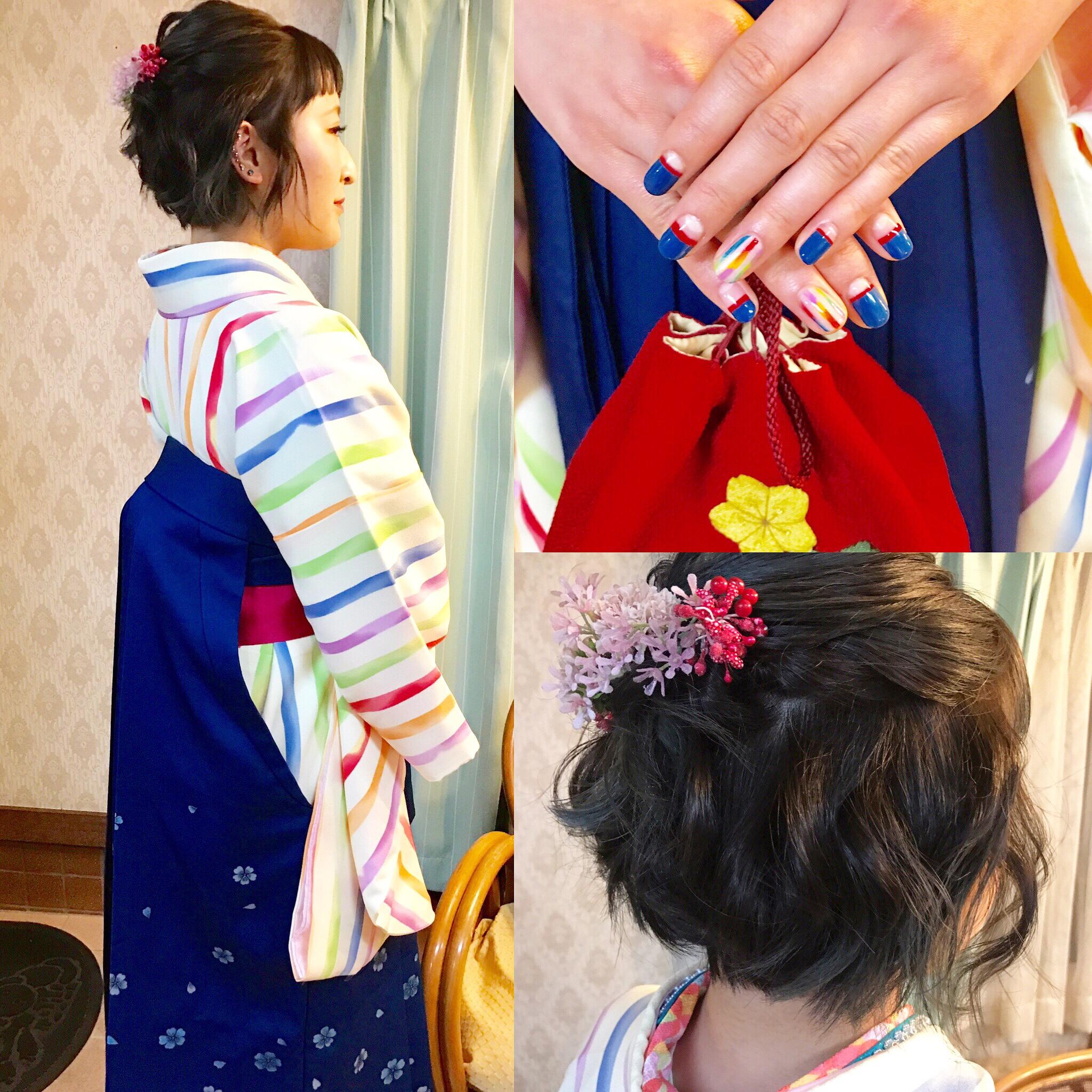 2020年卒業式女子袴レンタルヘアメイク着付け