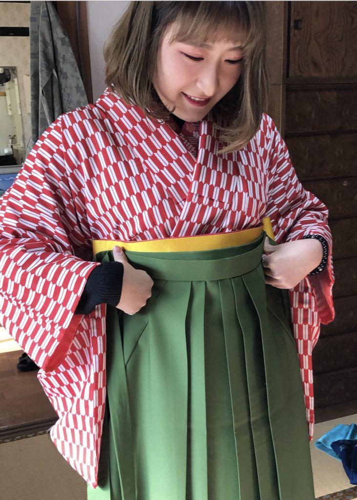 矢絣の着物レンタル衣装佐賀